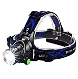 ERITAYA Led Head Lamp Flashlight torch For Head brightest adjustable Focus emergency Lighting For Biking cycling climbing camping hiking 100,000 Hours Led Lifetime usb Cable Included with 3 Light Mode