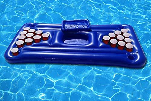 ANJJ Aufblasbare Poolbier-Tischtennisplatte Riesige Bier-Tischtennisplatte für das Trinkspiel im Pool