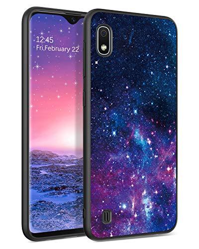BENTOBEN Samsung Galaxy A10 Hülle, Handyhülle Samsung Galaxy A10 Hülle Slim leicht dünn Nebula Pattern Muster PC Schale mit TPU Bumper Kratzfest Schutzhülle Hülle für Samsung Galaxy A10 Lila