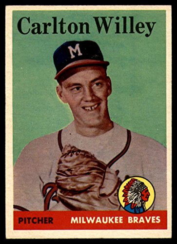 Baseball MLB 1958 Topps #407 Carl Willey EX Excellent RC Rookie Braves