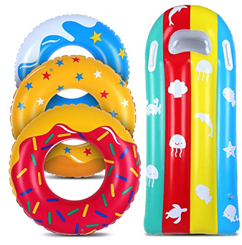 JoinJoy Pool Floats Donuts Swim Rings Swim Tubes Inflatable Beach Swimming...