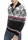 Redbridge Maglione da Uomo Stile Norvegese Pullover con Collo Alto in Cotone Blu S