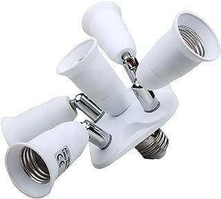 Toplimit 5 in 1 Light Socket Splitter Household LED Bulb Photography Socket Adapter Converter Free Degrees Adjustable Energy Saving Lamps Holder Inflaming retarding PBT Multi Light Bulb Adapter