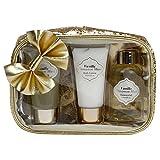 Gloss - caja de baño, caja de regalo para mujeres -  Kit Nodo espumoso baño Bliss - flores blancas y almizcle - 4pcs