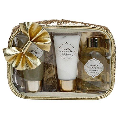 Gloss! Sparkling Bliss Trousse de Bain Nœud Fleur Blanc/Musk 4 Pièces, Coffret Cadeau-Coffret de bain
