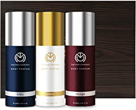 The Man Company Body Perfume Trio Gift set for men (Blanc Body Perfume, Bleu Body Perfume, Rouge body perfume)