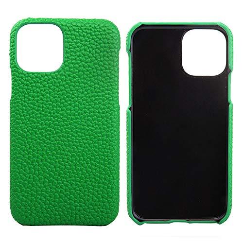 Lederen Case voor Iphone 11 / SE 2020 / SE 2 Premium Echte Koeienhuid met Nieuwe Slanke Ontwerp Dunne Bescherming Harde Achterkant Van de Behuizing,Green,8 PLUS/7 PLUS
