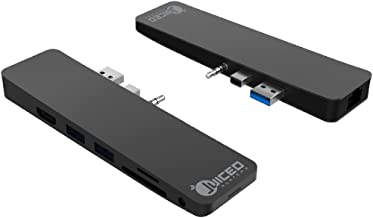 Juiced Systems CruzHUB - Surface Laptop 2 Adapter - Designed for Surface Laptop 2 - Gigabit Ethernet - 4K HDMI - 2 USB 3.0 - SD - Micro SD - AUX - Compatible with Surface Laptop v1 and v2
