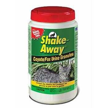 Shake Away 5006458 Coyote/Fox Urine Granules – Repels Domestic Cats 5 lb