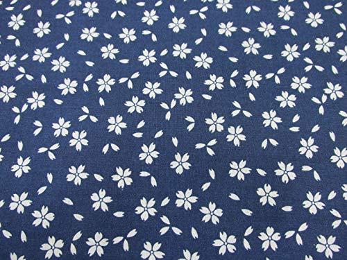 Confección Saymi Tela 100% algodón Estampado 2,45 MTS Ref. Hana Negativo Azul, Doble Ancho 2,80 MTS.