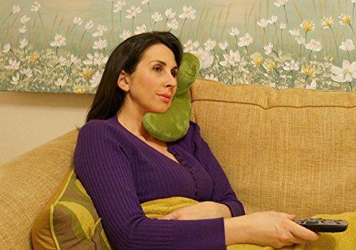 J-Pillow - Cuscino da viaggio ca. 30,5 x 30,5 x 18 cm verde