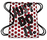 Nike Heritage Sports Gymsack JUST DO IT White with Red Polka Dots