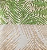 Tovaglioli foglie tropicali in tessuto non tessuto, di carta airlaid,40x40cm,50pz,morbidi e resistenti, ecologici