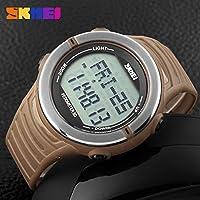 QTMIAO ファッション時計美しい時計, WATCHメンズ腕時計アウトドアスポーツステップウォッチハートレート電子腕時計多機能防水ハートビートウォッチ (Color : 2)