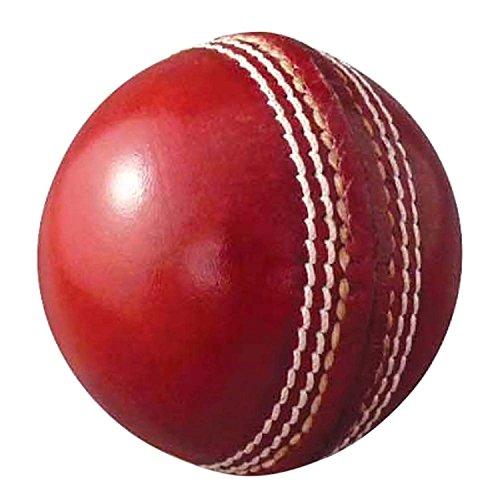 AnNafi Cricket-Bälle, Leder, hochwertig, handgenäht, Rot