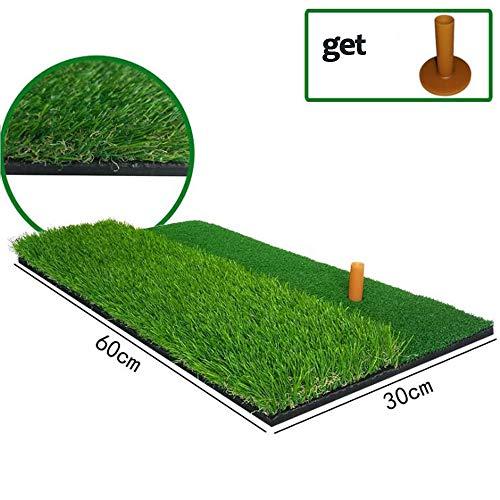 Golf Mat Met Driehoekige Plank, 2 in 1 Indoor Lange En Korte Gras Golf Mat PP En Zacht Schuim Putting Praktijk Mat, 24X12 Inches