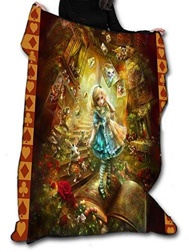 Wild Star@Home Alice in Wonderland Throw Gothic Fantasy Furniture Decoration Soft Warm Fleece Blanket