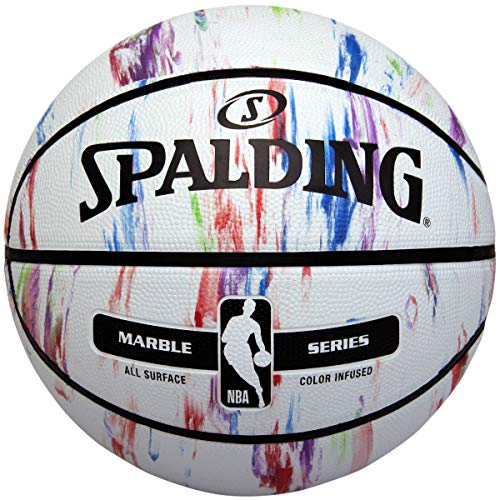 Spalding NBA Marble Series Multi-Color Outdoor Basketball 27.5'