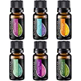 The Starter Kit Set includes 6x10ml bottles of Aromatherapy Essential Oils and Blends: Anxiety Relief, Sleep, Peppermint oil, Orange, Lavender, Eucalyptus. Pure and Natural. EUROPEAN QUALITY and CONTROL - essential oils set manufacturers in the Europ...