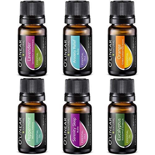 Essential Oils Set - Top 6 (4 Oils & 2 Blends) Essential Oils for...