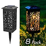OxyLED Solar Path Lights, 8-Pack Solar Powered LED Garden Pathway Lights, Auto On/Off