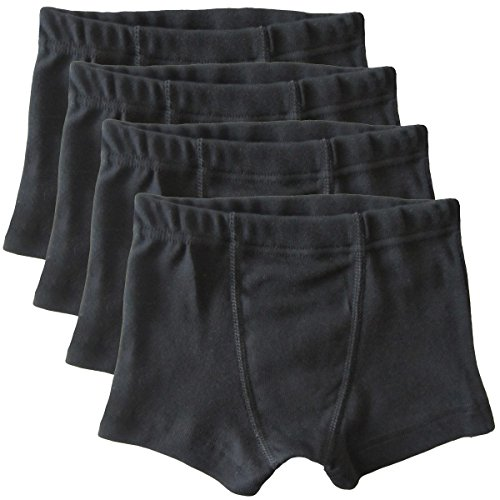 HERMKO 2900 4er Pack Jungen Pants - Reine Bio-Baumwolle, Farbe:schwarz, Größe:164