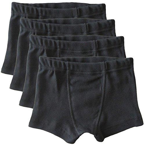 HERMKO 2900 4er Pack Jungen Pants - Reine Bio-Baumwolle, Farbe:schwarz, Größe:152