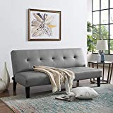 Best Futons - Naomi Home Button Tufted Futon Sofa Bed Gray Review