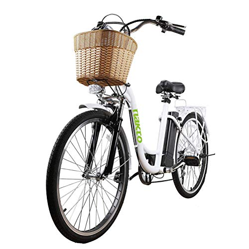 "NAKTO 26"" 250W City-Electric Bicycle Sporting 6-Speed Gear E-Bike 36V 10A Lithium Battery"