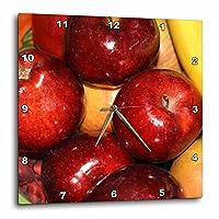 3dRose dpp_29486_3 フルーツリンゴとオレンジの写真 食べ物 料理 壁時計 15 x 15インチ