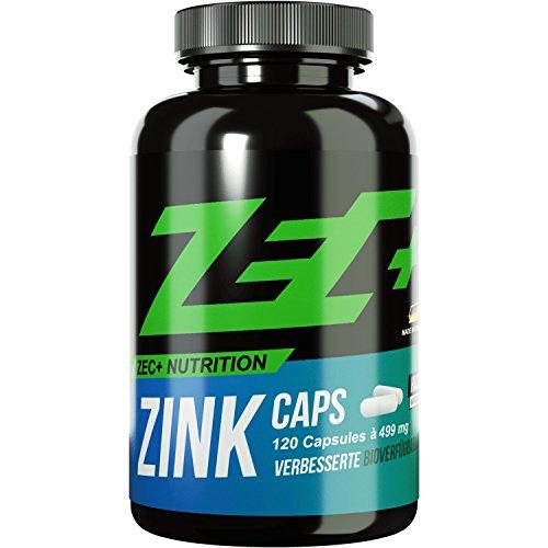 ZEC+ Zink Kapseln - 120 Kapseln mit Zink-Bisglycinat, beliebtes Mineral im Kraftsport & Bodybuilding
