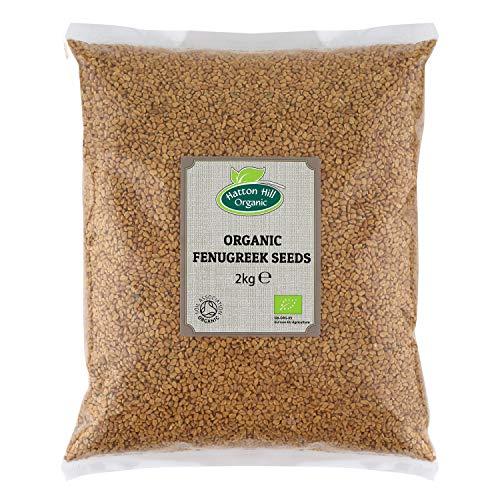 Semillas orgánicas de fenogreco 2 kg Methi Seeds por Hatton Hill Organic – Certificado orgánico