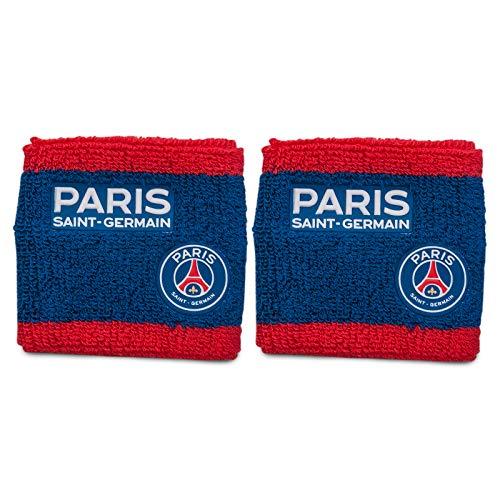 Paris Saint Germain - Schweißband aus Frottee - Offizielles Merchandise - Geschenk für Fußballfans - 2 Stück