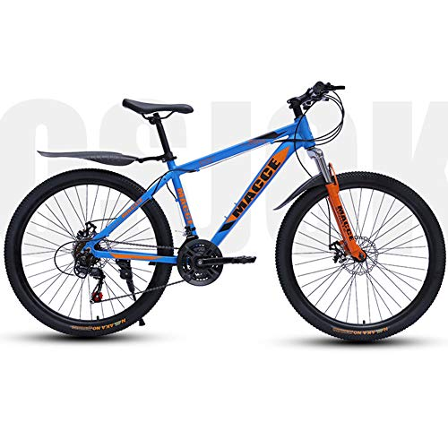 Marky Bicycle 21 Speed Mountain Bike 24 Inch Double Disc Shock Absorbing Bicycle