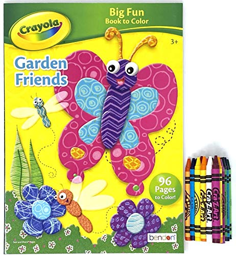 Party Deal Spring Coloring & Activity Book – 1 Pack with Crayons Multi Color