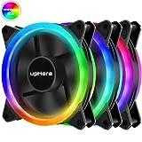 upHere F03CF 120mm Ultra-leise Bunten Regenbogen LED Lüfter für Gehäuselüfter,CPU-Kühler und...