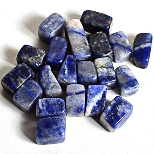 Ltong Assortiti Fatti a Mano in Pietra burrattataMateriale Naturale in Miniatura di Cristallo Minerali Fontana Accessori per la Decorazione Domestica, Sodalite