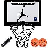 AUTENS Door Hanging Indoor Basketball Hoop for Kids - Mini Basketball Hoop