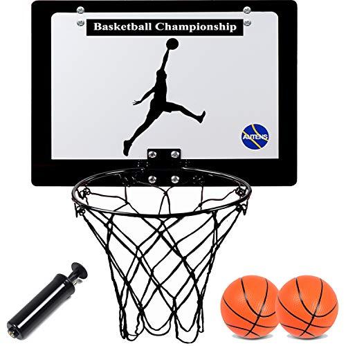 AUTENS Mini-Basketballkorb für den Raum mit 2 Bällen | Hängen Sie es einfach an die Tür: innen und außen | 40 x 30 cm