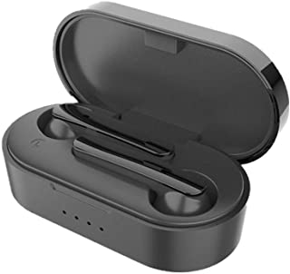 $46 » Lavendervob Touch Bluetooth headset, noise-reducing large-capacity charging bay 5.0 low power consumption, IPX7 waterproof and sweat-proof, smart compatible with Bluetooth devices, black