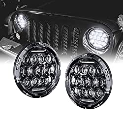 "7"" Round LED Headlight with DRL [65 Watt]"