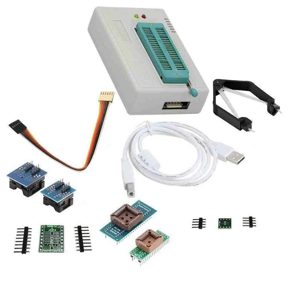 LAQIYA TL866Ⅱ Programador plus USB EPROM FLASH BIOS, circuitos lógicos programables, 6 adaptadores, extractor de zócalos para 15000 IC