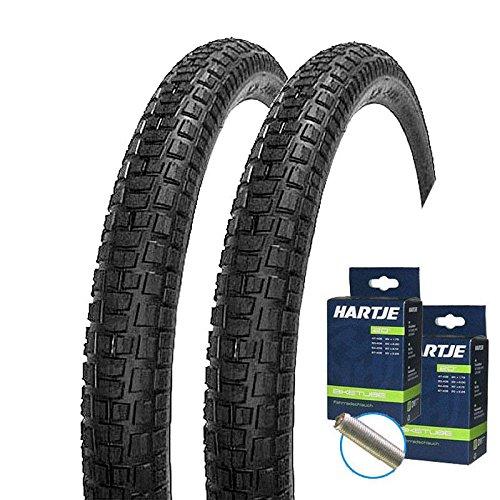 Mitas Set: 2 x Nitro Fahrrad Decken BMX Reifen 20x2.00/52-406 + 2 Schläuche Autoventil