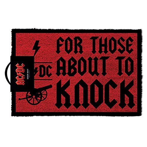 AC/DC RD-RS660142 Felpudo For Thesos About To Knock, Bonote, Multicolor, 40 x 60 cm