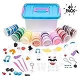 Set de 40 Tubos de Arcilla Polimérica - Incluye variedad de accesorios y una caja de Manualidades, Segura y No Tóxica - Actividades de interior para niños, Para horas de diversión y aprendizaje