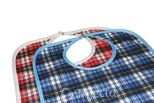 Trifecta Linens 2 Pack - Babero Adulto - Large Extra Long, Reutilizable Lavable a máquina, Ropa, Hora de la Comida Protector, Impermeable 18