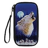 Showudesigns - Cartera para documentos de viaje, diseño de animales Multicolor lobo One_Size