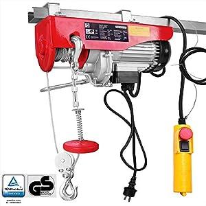 Monzana Cabestrante eléctrico 400/800 kg altura de elevación polipasto para garaje taller cable de control herramienta