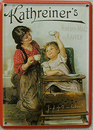 Mini-Blechschild Kathreiner´s Kneipp-Malz Kaffee, 8 x 11 cm