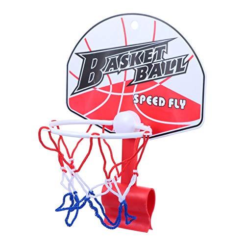 VOSAREA Canasta de baloncesto sobre el muro de la canasta de baloncesto para niños pequeños, niños, niñas, interiores y exteriores, accesorios para jugar al baloncesto